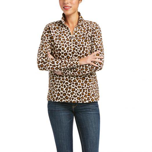 Ariat Ladies Printed Fleece 1/4 Zip Sweatshirt