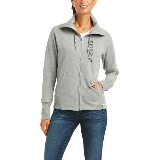 Ariat Ladies Team Logo Full Zip Sweatshirt