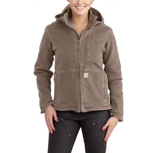 Carhartt Ladies Full Swing Loose Fit Washed Duck Sherpa Lined Jacket
