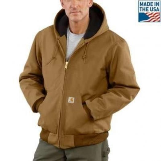 Carhartt Quilted Flannel Lined Duck Active Brown Jacket