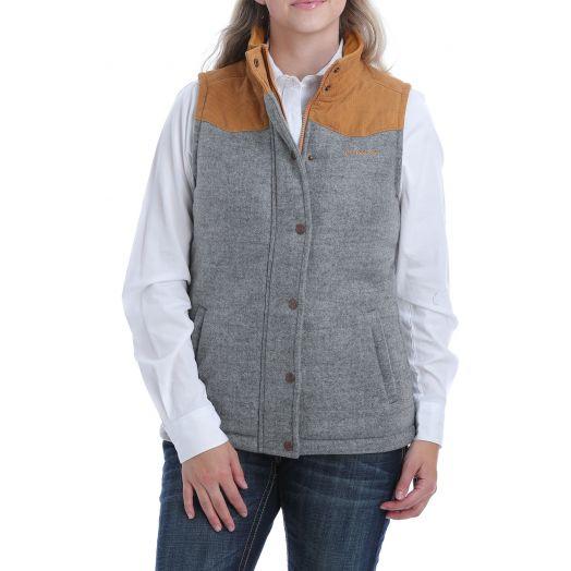 Cinch Grey Tweed Vest