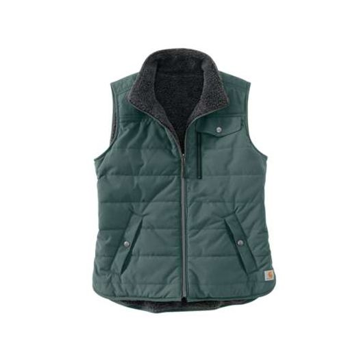 Green Utility Sherpa Lined Vest
