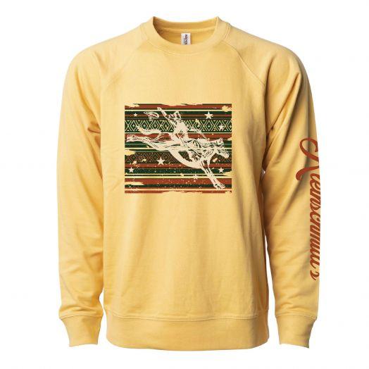 Kleinschmidt's Yellow Rodeo Crewneck Sweatshirt