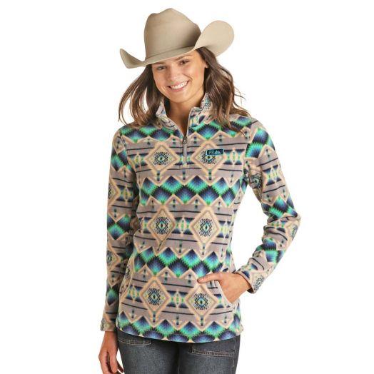 Powder River Ladies Aztec Fleece Pullover