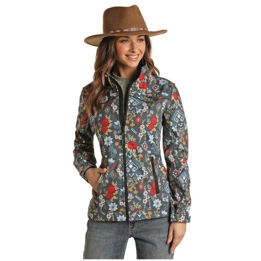 Powder River Ladies Aztec Performance Rodeo Softshell Jacket