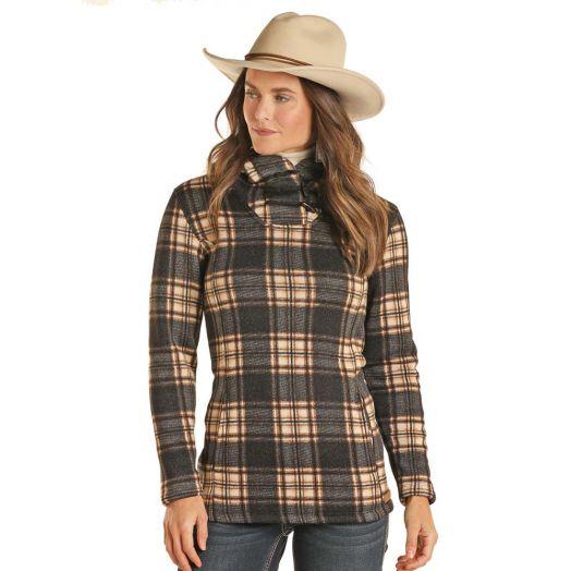 Powder River Ladies Plaid Fleece Pullover