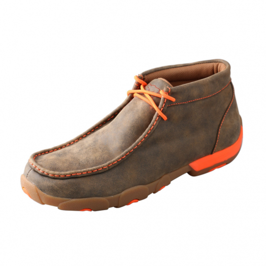 Twisted X Men's Neon Orange Driving Moccasin